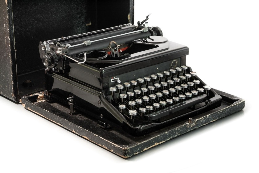 18334059 - old fashioned typewriter