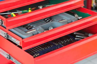 43947533 - red tool drawer